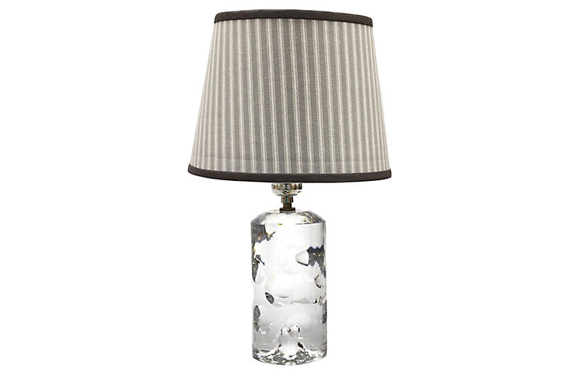 Baccarat Crystal Lamp w/Custom Shade