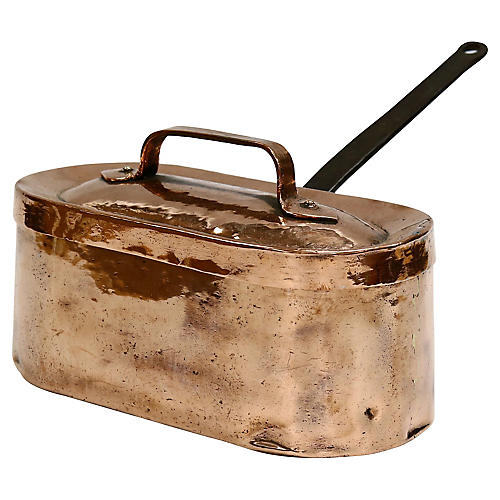 Antique Heavy English Copper Pan