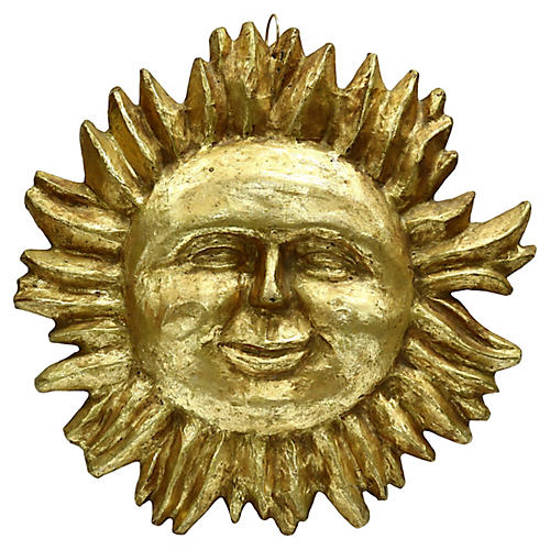 C.1900 Double-Sided Gilded Sun Shop Sign