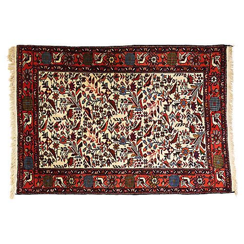 "Senneh Bird Persian Rug, 5'2"" x 3'5"""