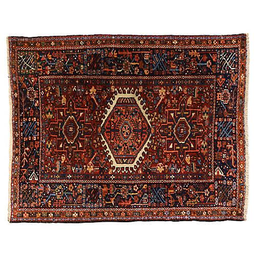 "Karaja Village Persian Rug, 4'6"" x 3'6"""