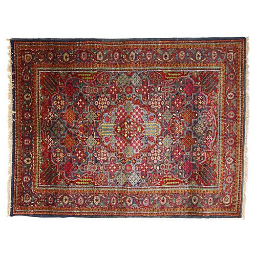 Kirman Medallion Persian Rug, 6' x 5'