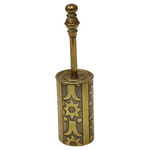 Antique Arts & Crafts Brass Crumb Brush