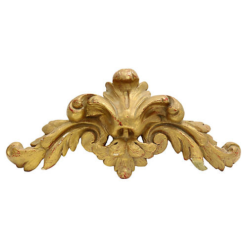 Antique French Wall Pediment
