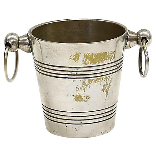 French Champagne-Bucket Toothpick Holder