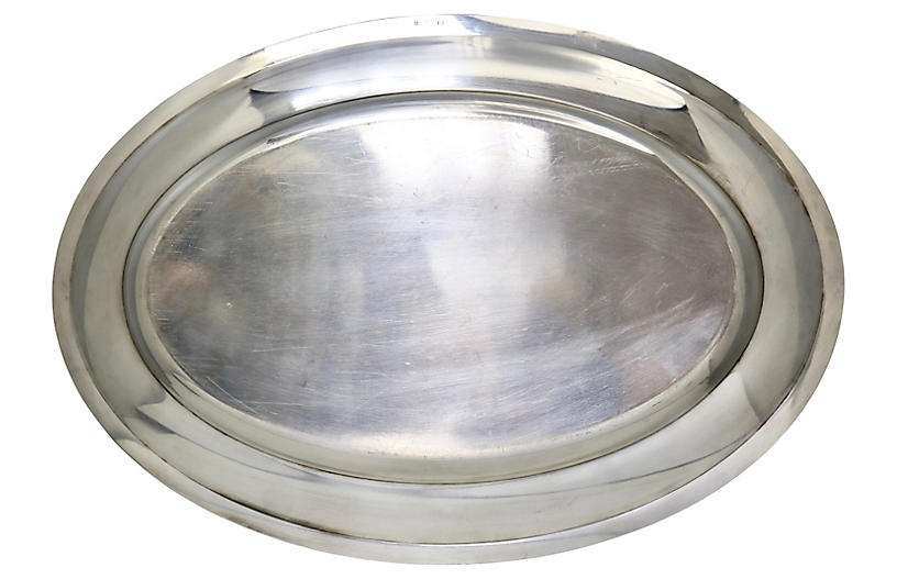 Midcentury Christofle Silver-Plate Tray