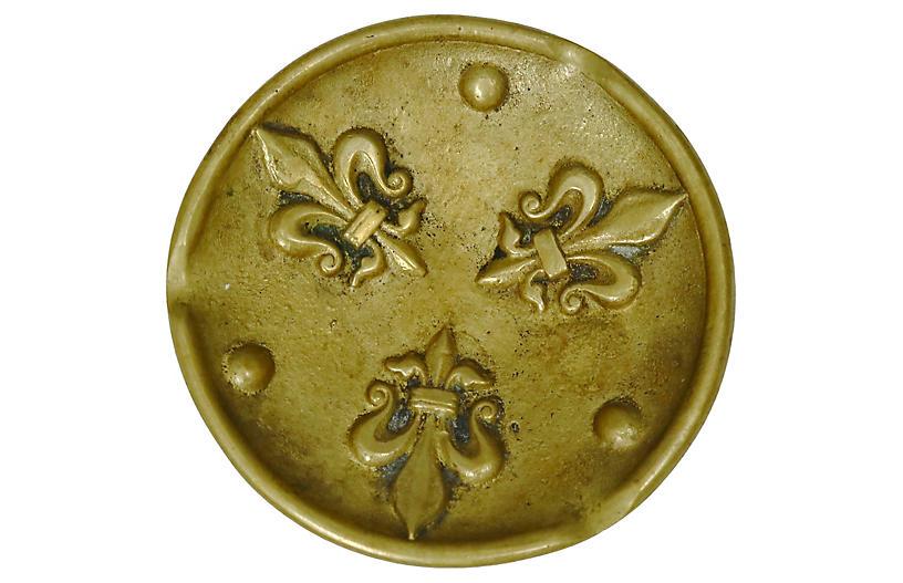 French Bronze Fleur-de-Lis Ashtray