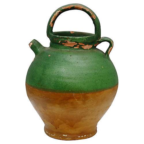 Antique French Terra Cotta Water Jug
