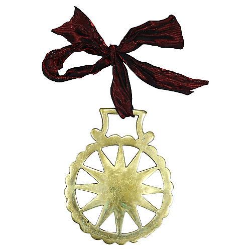Antique Starburst Horse Brass Ornament