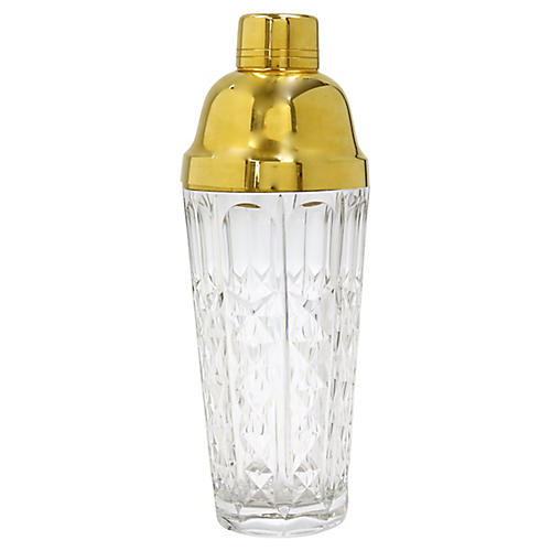 Art Deco Crystal Cocktail Shaker