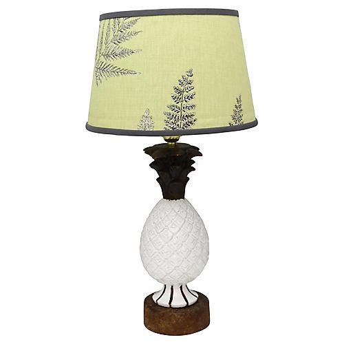 Midcentury Pineapple Lamp w/Custom Shade
