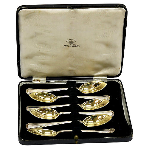 Silver-Plate Grapefruit Spoons, S/6