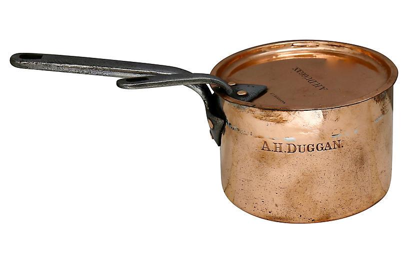 Antique Harrods London Chef's Copper Pan
