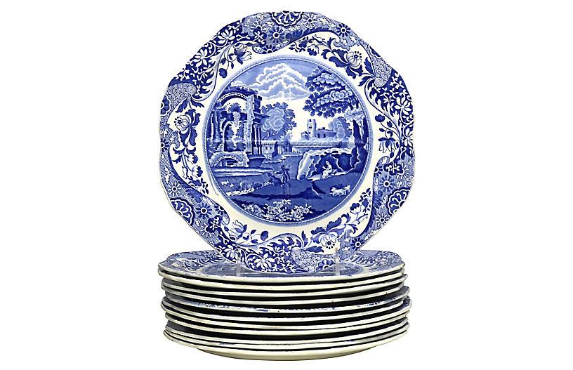 Spode Italian Divided Buffet Plates,s/12