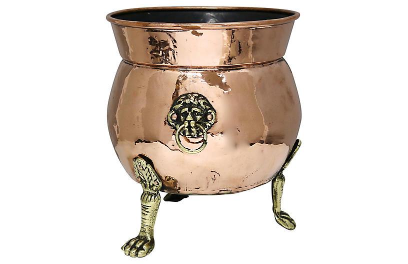 Antique Copper Jardinière w/ Handles