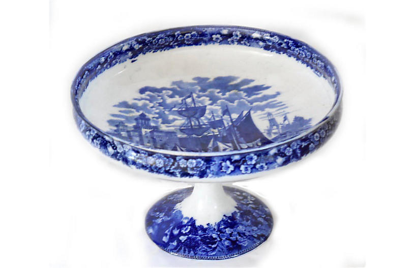 1920s Wedgwood Ferrara Pedestal Bowl