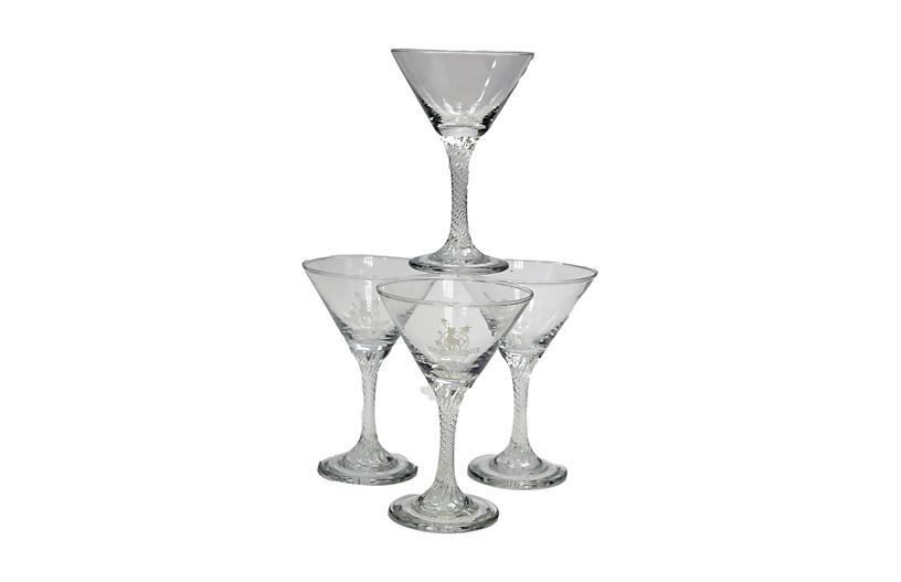 Midcentury BabyCham Champagne Stems, S/4