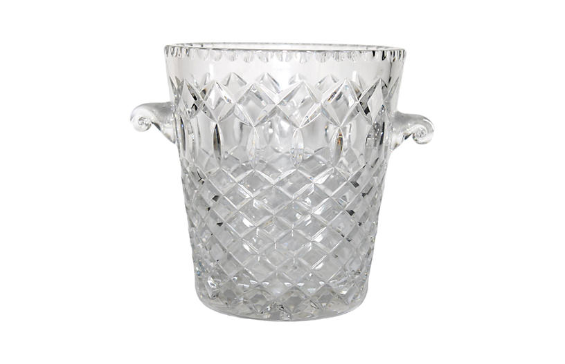 Midcentury Crystal Ice Bucket