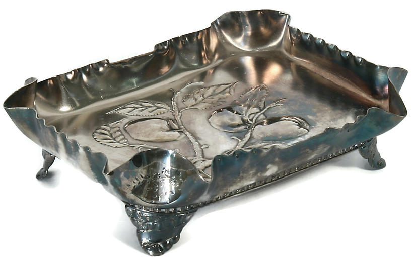 Antique American Pairpoint Serving Tray