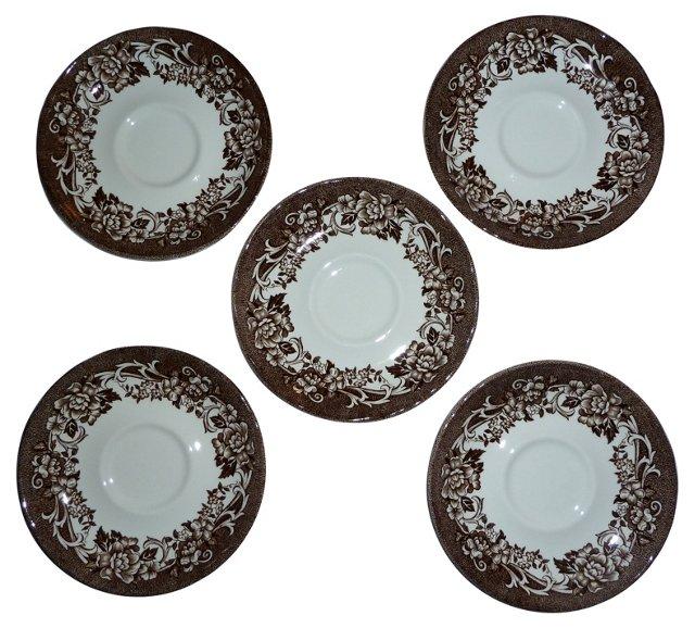 English Ironstone Saucers, S/5