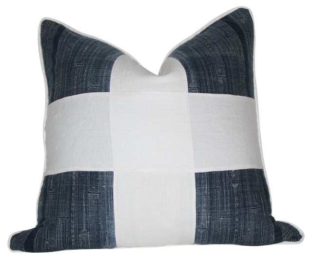 Indigo Batik Cross Pillow