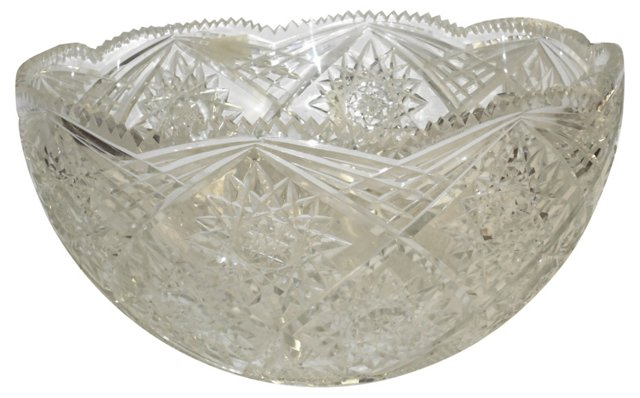 Hand-Cut Crystal Punch Bowl