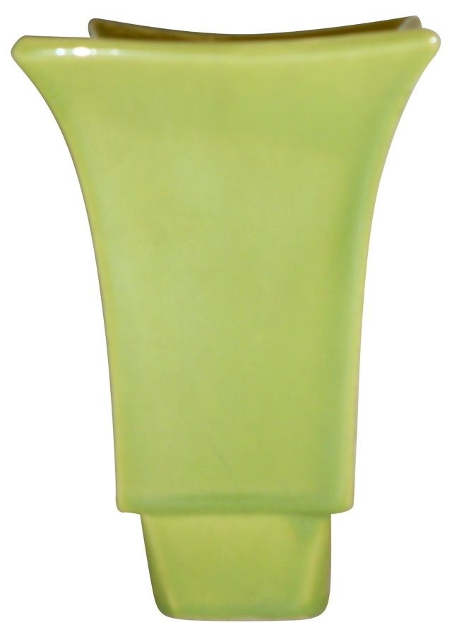Midcentury Green Ceramic Planter