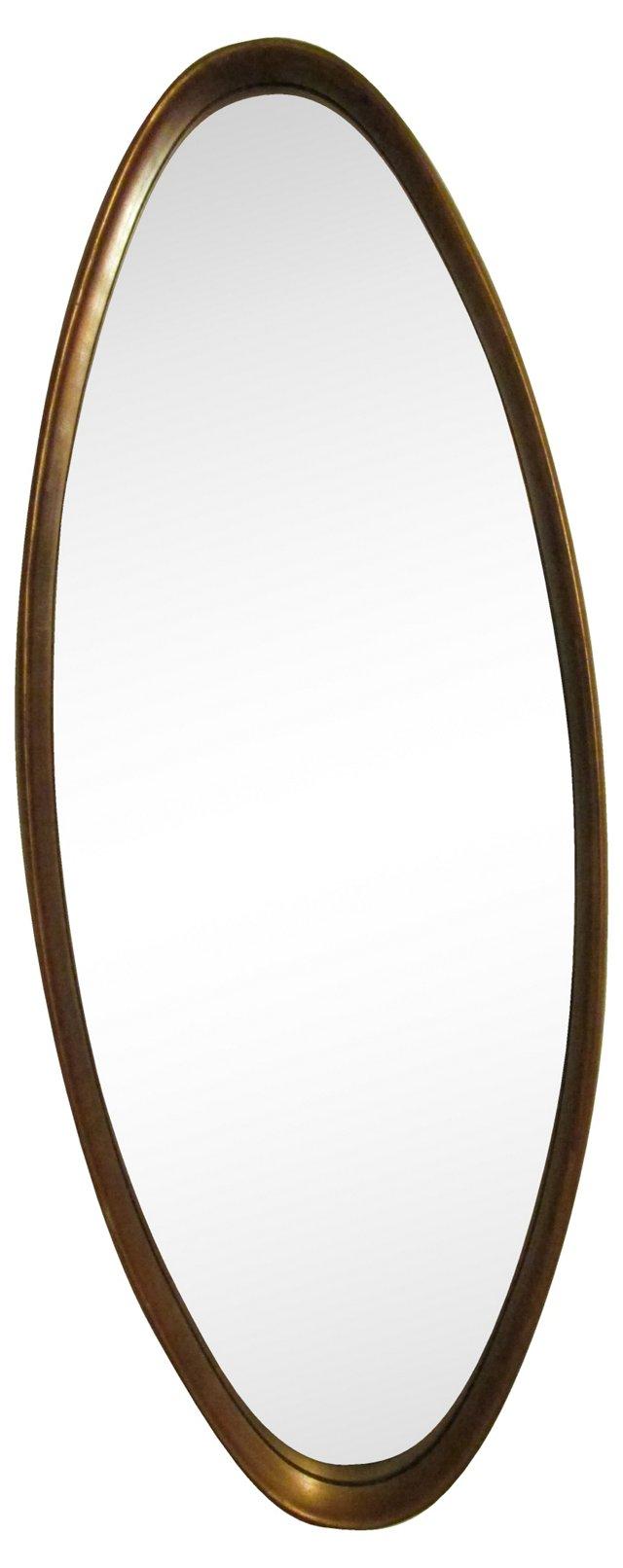 Midcentury Oval Mirror