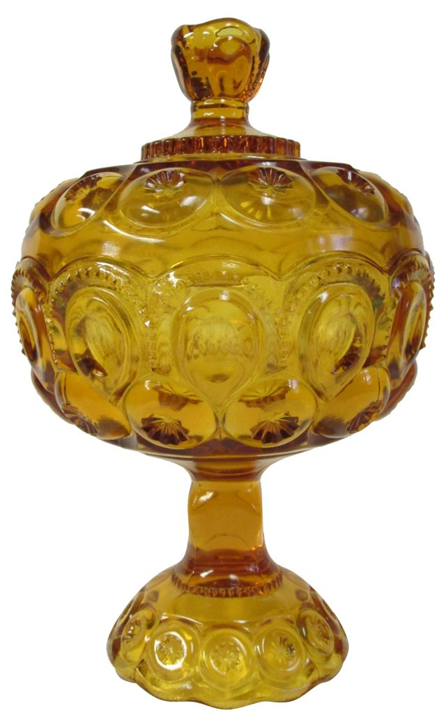 Amber Candy Dish