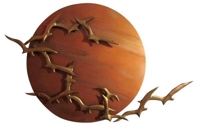 Seagulls Wall Sculpture By Bildri
