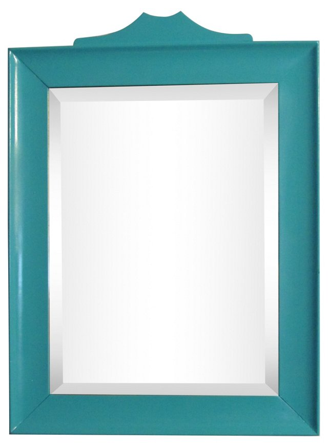 Beveled Blue Lagoon Mirror