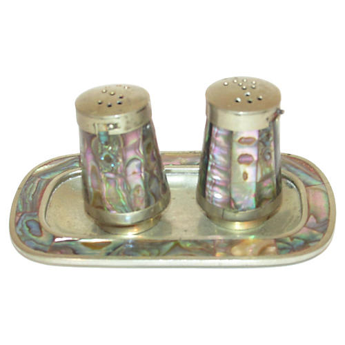 Pearl Salt & Pepper Shakers, 3-Pcs