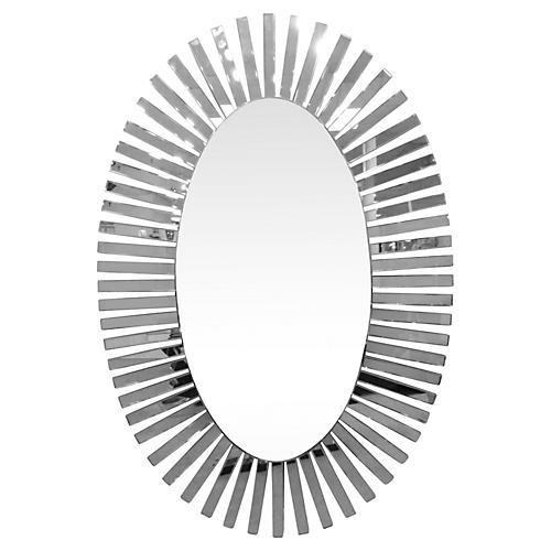 "Midcentury 71"" Starburst Mirror"