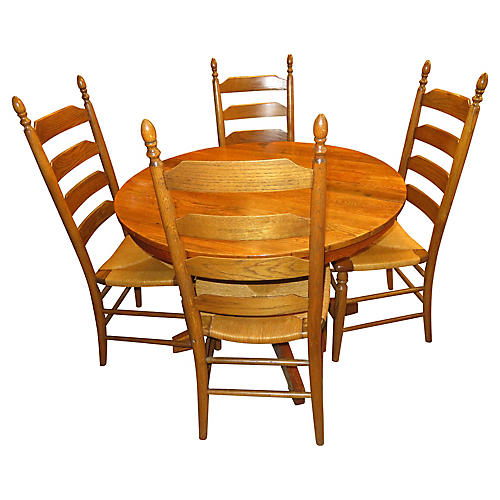 French Country Dining Set, 5 Pcs