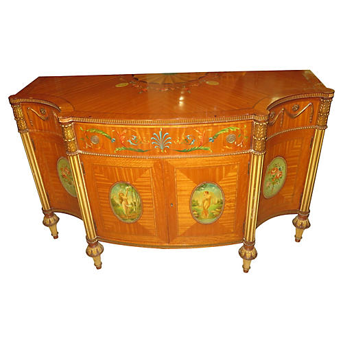 Hand-Painted Satinwood Buffet