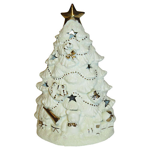 Iluminated Ceramic Christmas Tree