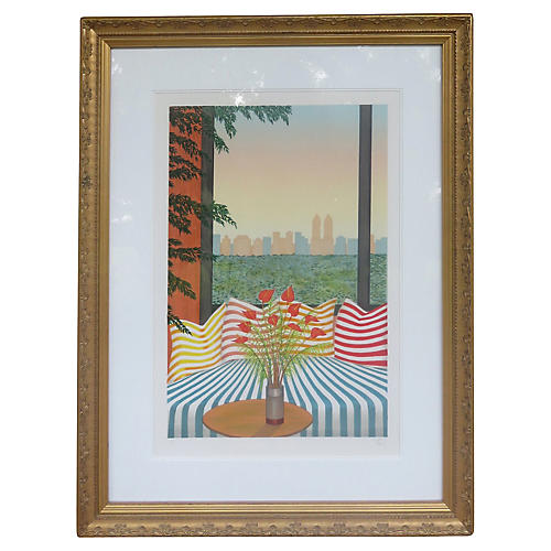 """Striped Divan"" by Fanch"