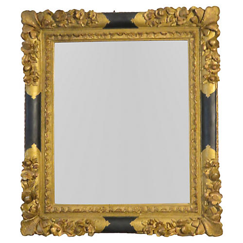 Gold-Gilded Ornate Mirror
