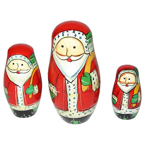 Santa Stacking Dolls