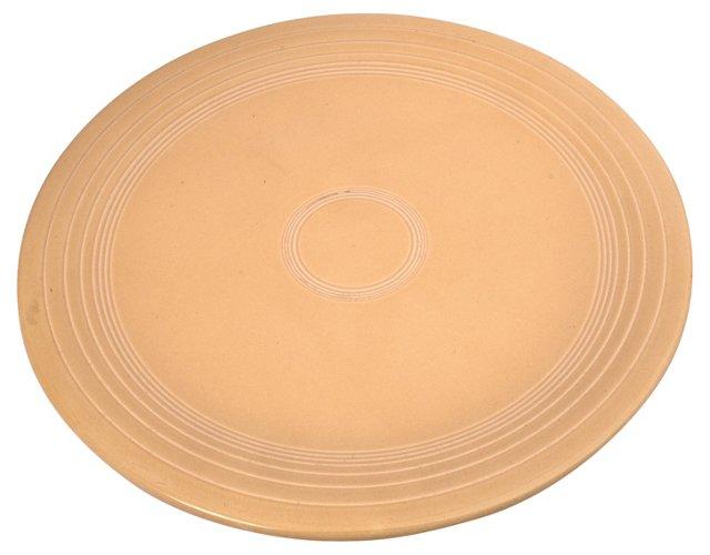 Cream Fiestaware Ringed Platter