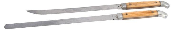 Bone & Steel Knives, Pair