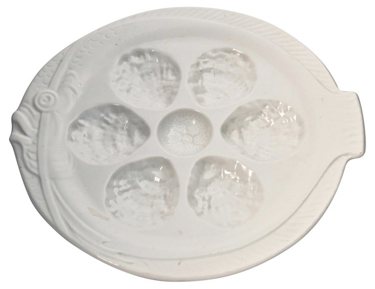 French Oyster Serving Plate