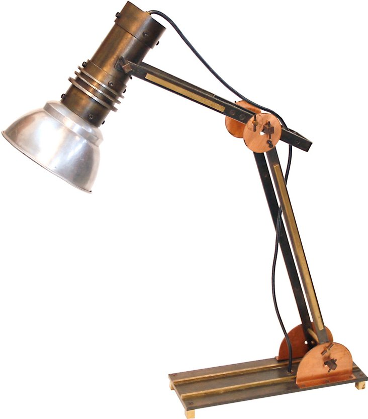 Copper & Brass Industrial Italian Lamp