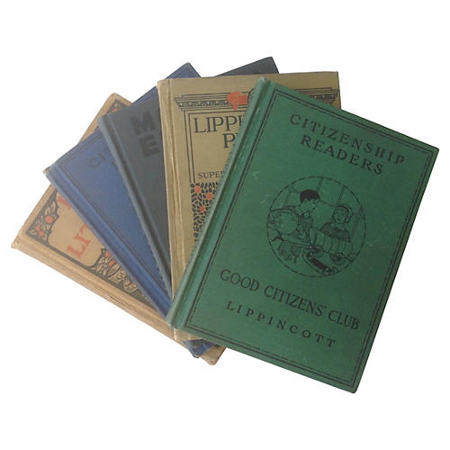 Early-20th-C. Child Primers, S/5
