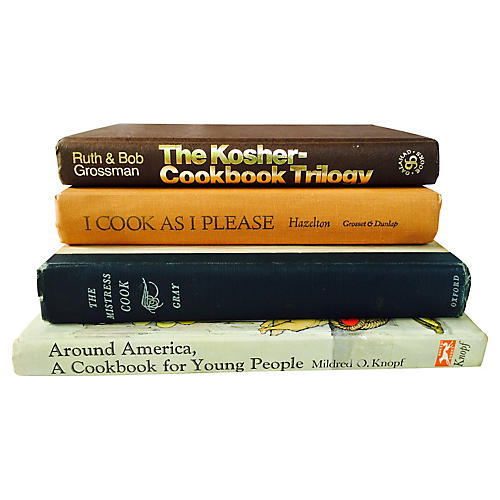 Black & Tan Cookbooks, S/4