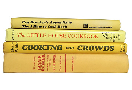 Illustrated Yellow Cookbooks, S/4