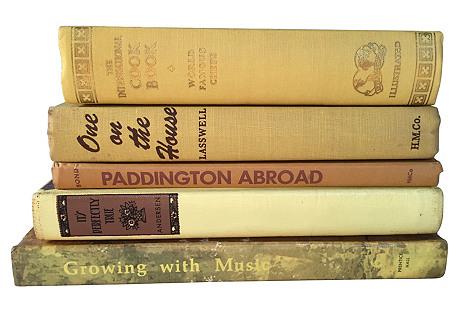 Golden Book Stack, S/5