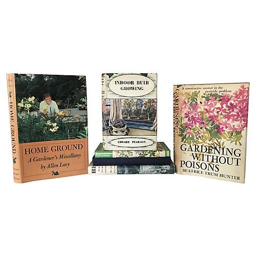 Illustrated Gardening Books, S/6