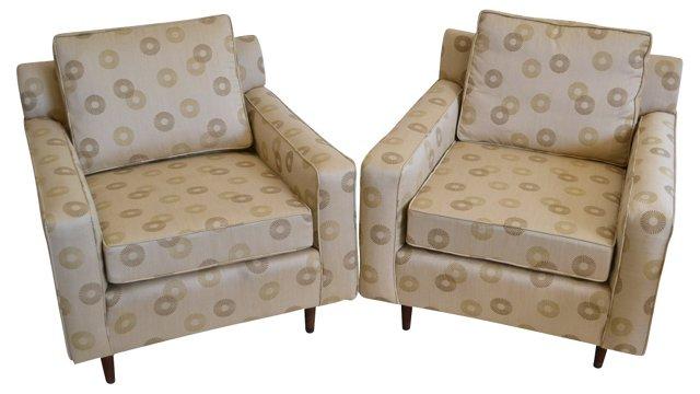 Club Chairs by Dunbar, Pair