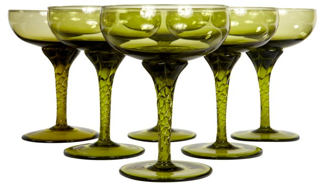 Italian Champagne Coupes, S/6